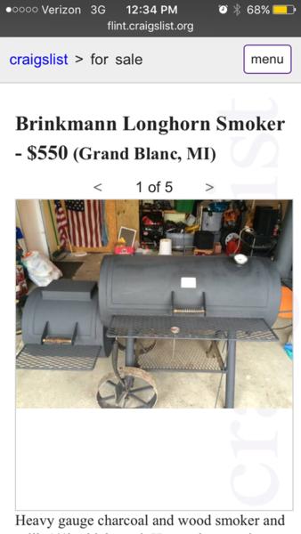 Craigslist Offset Smokers - Pitmaster Club